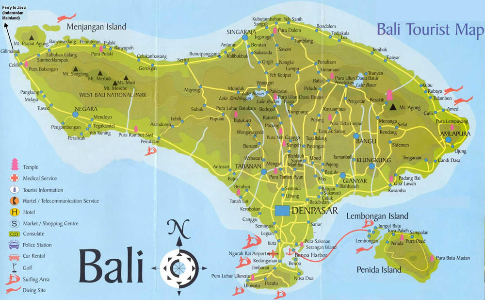 Image Result For Bali Tourist Attractions