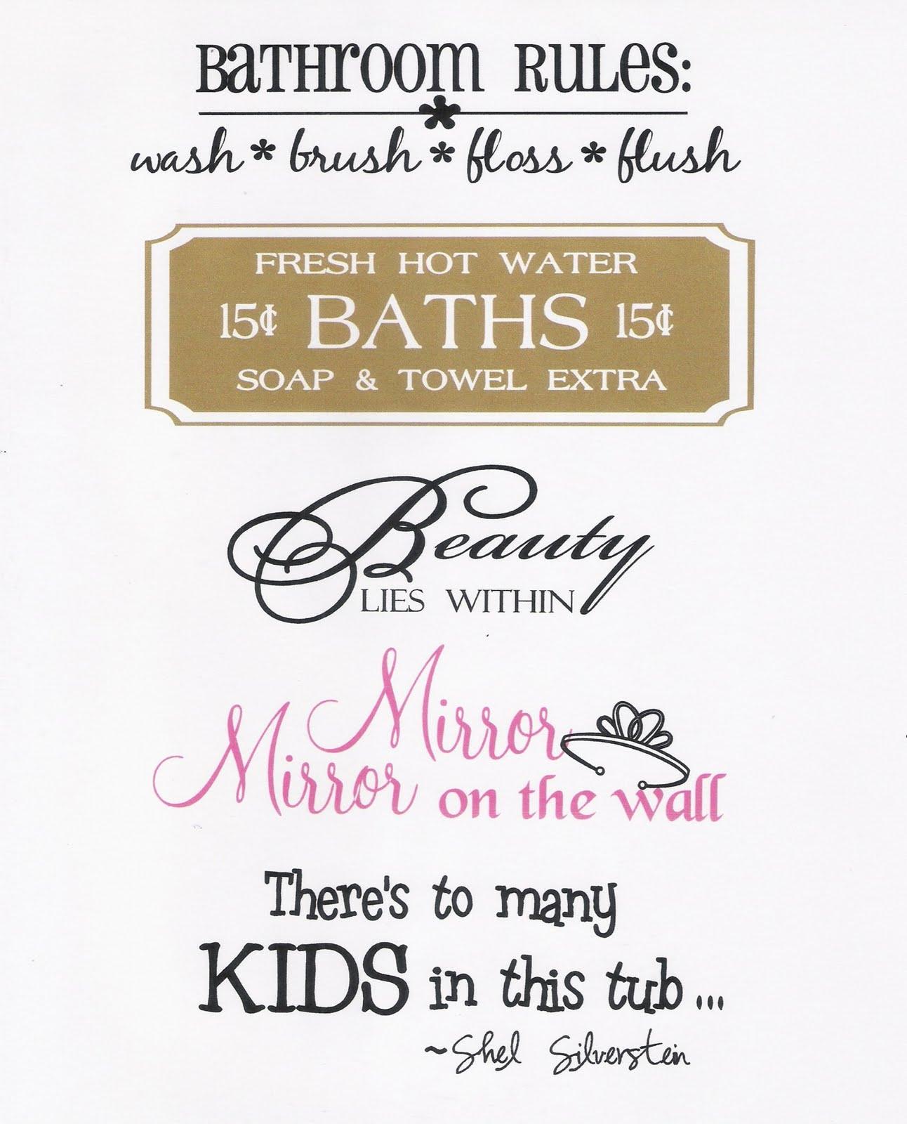 Quotes And Sayings: Whatever You Say: Splish Splash...Bathroom Sayings