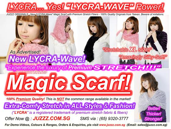 JUZZZ COM SG : JUZZZ Singapore: NEW LYCRA-WAVE MAGIC SCARF