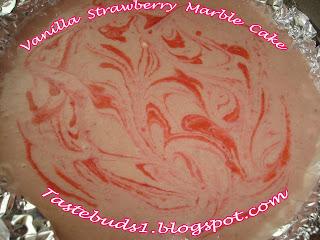 Taste Buds Vanilla Strawberry Marble Cake