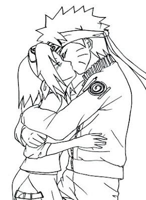 Colorear Naruto Y Sakura Besandose Naruto Shippuden Videos De