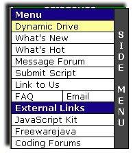 slide in menu