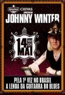 Johnny WInter em Goiânia no Bolshoi Pub