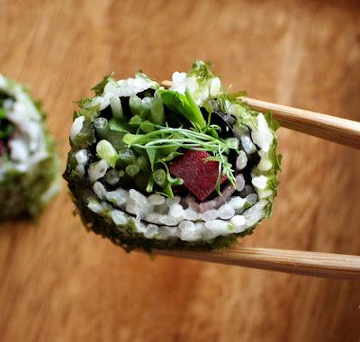 Oppskrift Sushi Vegansk Vegan Vegetarsushi Hvordan Lage Hjemmelaget Rødbeter