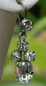Victorian rhinestone earrings
