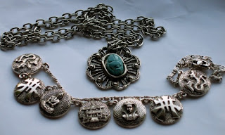 Egyptian necklaces in my collection
