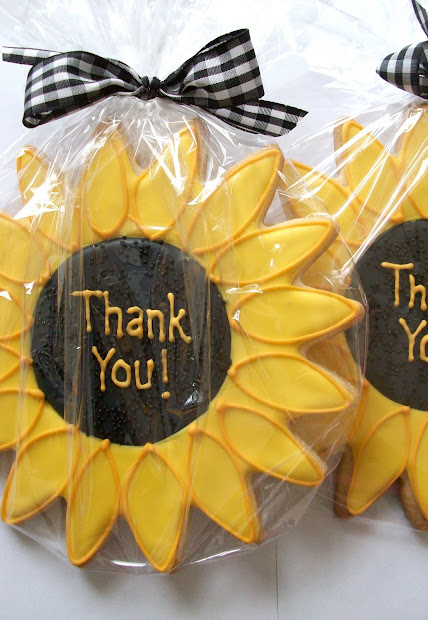 Sunflower Wedding Favors Cookies