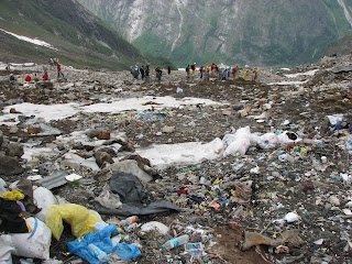 Garbage at Hemkund Sahib