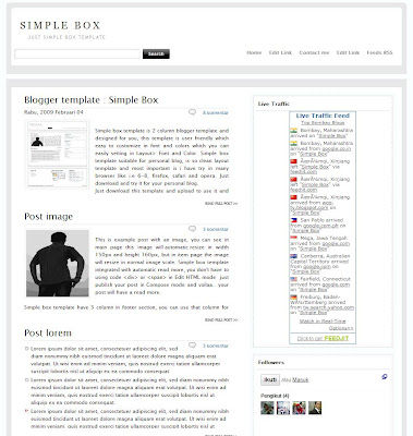 Simple box blogger template