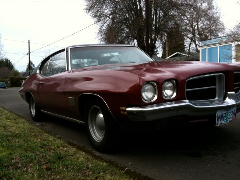 Old Parked Cars 1972 Pontiac Lemans Sport Coupe