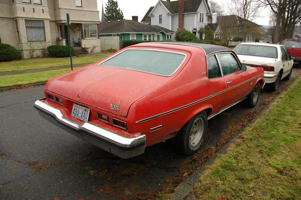 OLD PARKED CARS 1974 Chevrolet Nova Custom Hatchback