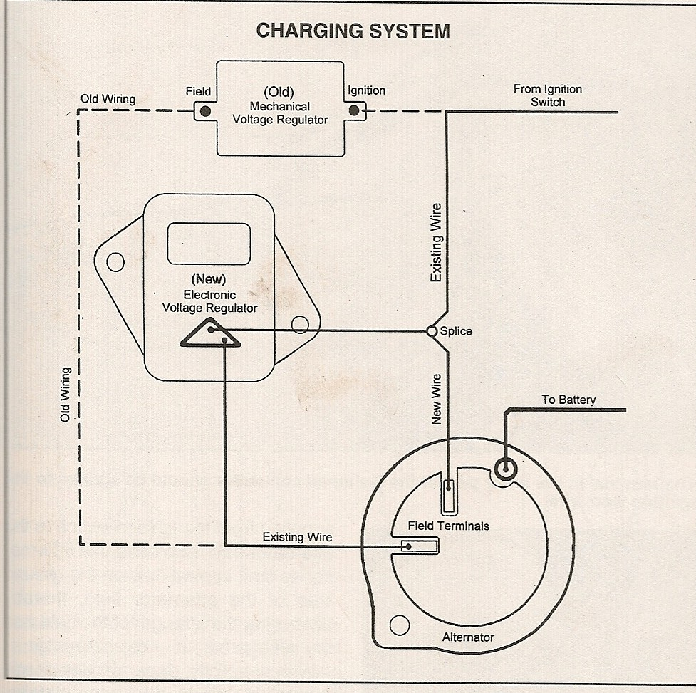 mopar alternator regulator wiring diagram data schematic diagram 1968 dodge voltage regulator wiring wiring diagram sheet [ 977 x 973 Pixel ]