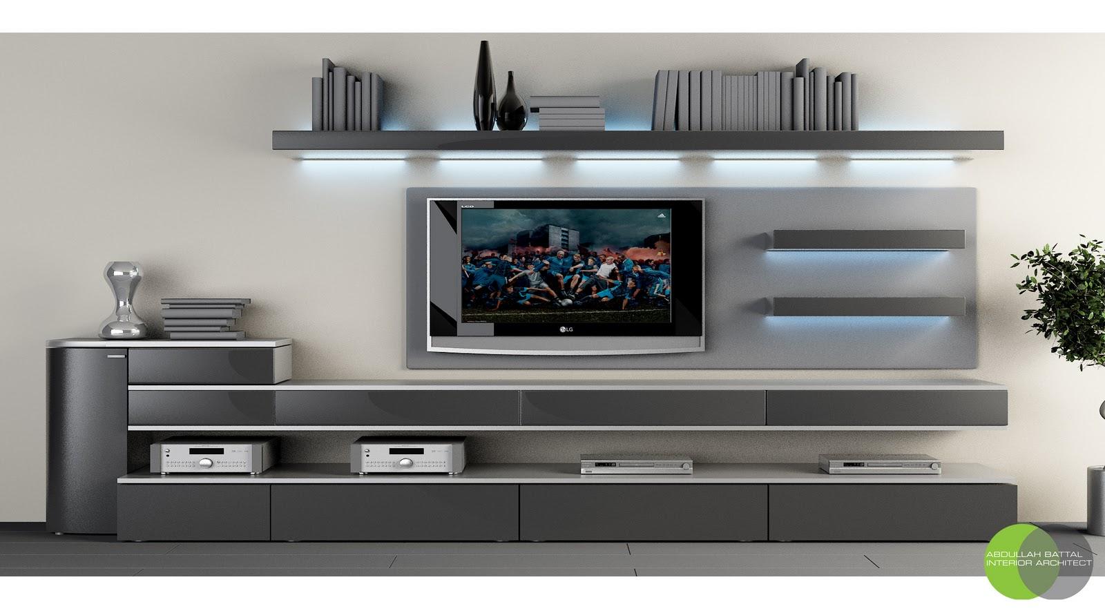 abdullah battal tv unit design