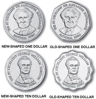 World Coin News Jamaica 2009 New Shaped Coins