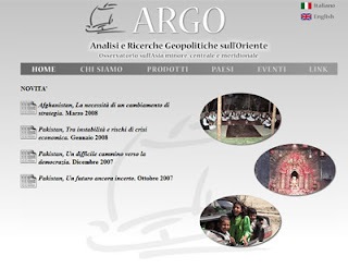 la home page del sito ARGORIENTE.IT