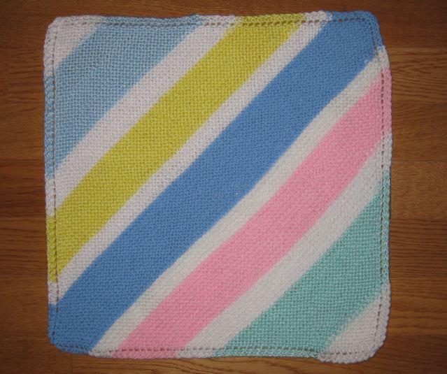Wyoming Breezes Easy Knit Doll Blanket