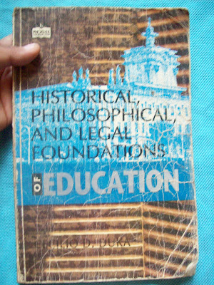 Philosophical Foundation Of Education Book