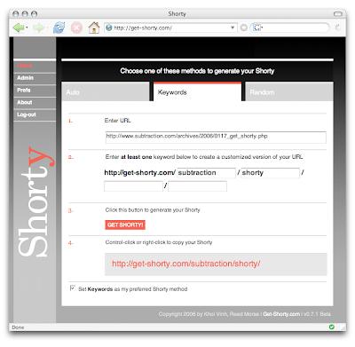 URL Shortener - Shorty
