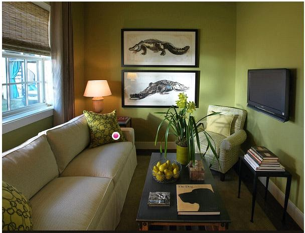 Joy Of Decor Decorate Around Beige Sofa Green Walls
