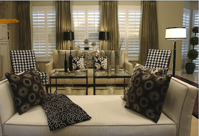 Decorate With Beige Sofa Black White Damask Accent