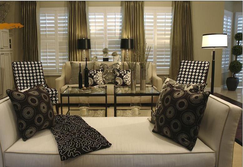 Joy Of Decor: Decorate with Beige Sofa, Black & White ...