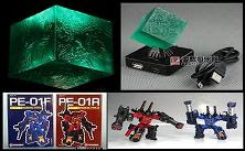 Fan Project Item: TFC-002R All-Spark Cube & Perfect Effect Shadow Warrior PE-01F PE-01R TwoPack