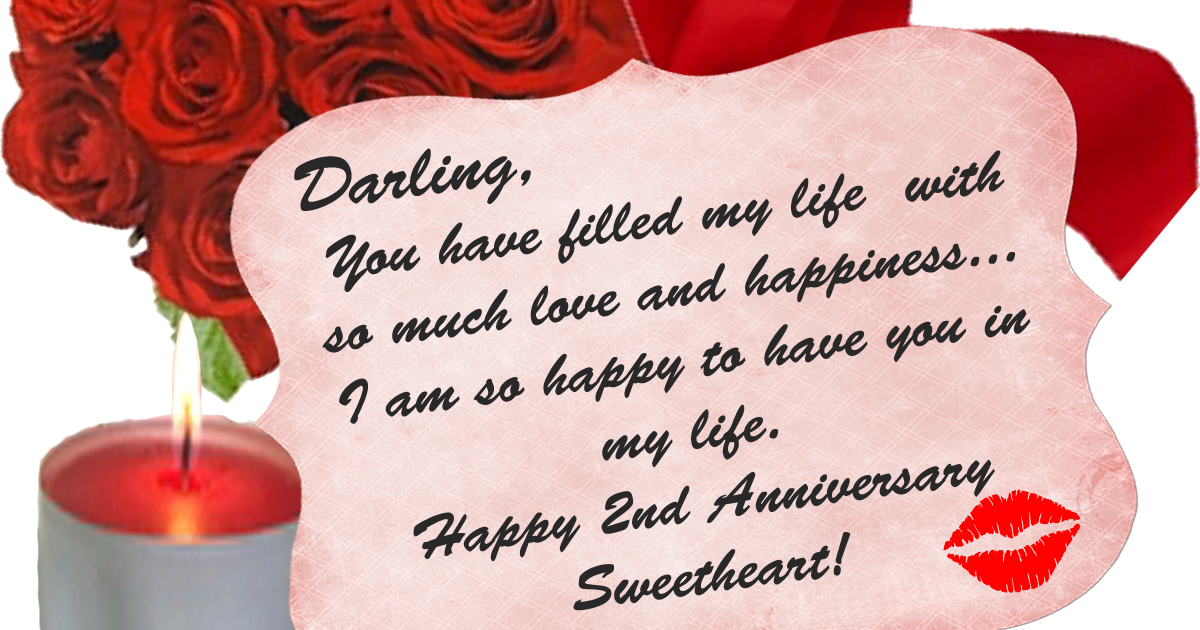 HD Exclusive Happy 2nd Anniversary My Love Images - dgreetings