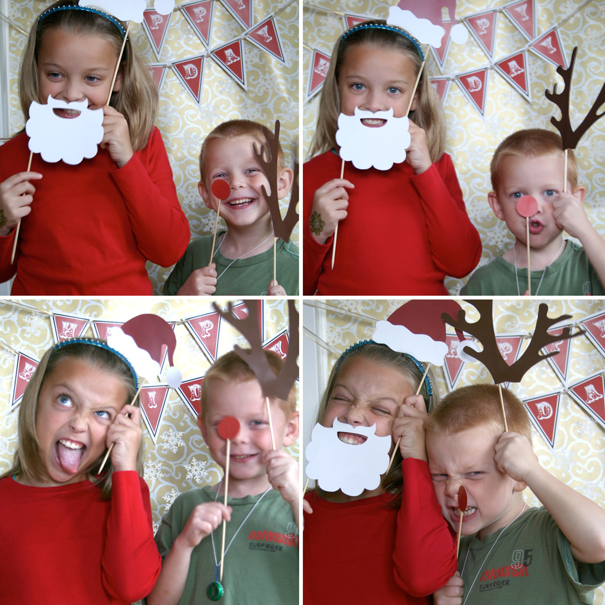 Paper And Cake: Holiday Photo Booth Props