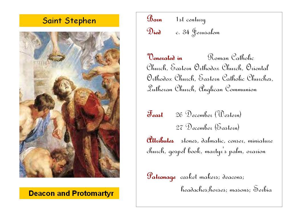 All Saints Saint Stephen