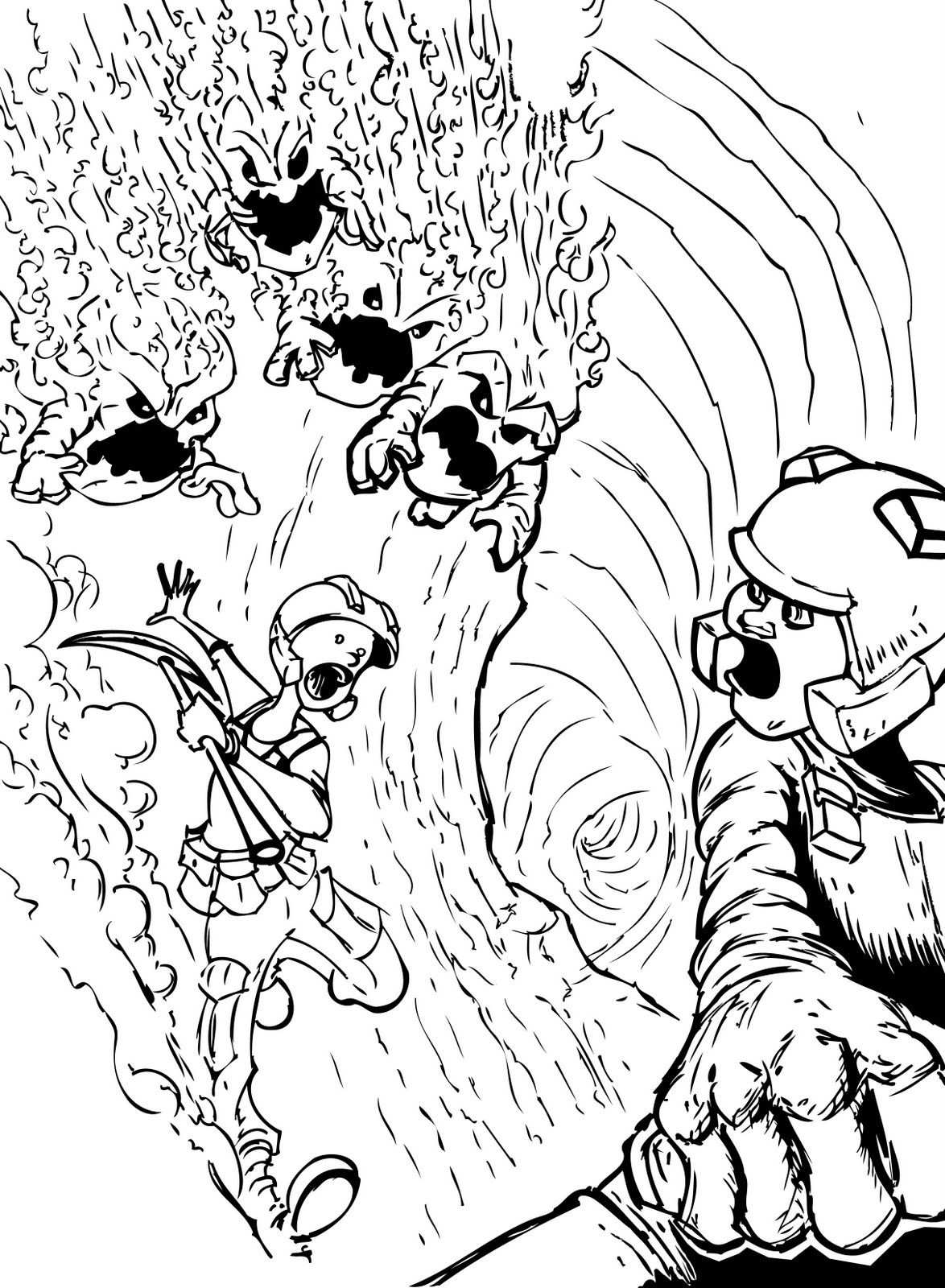miner coloring pages - photo #47