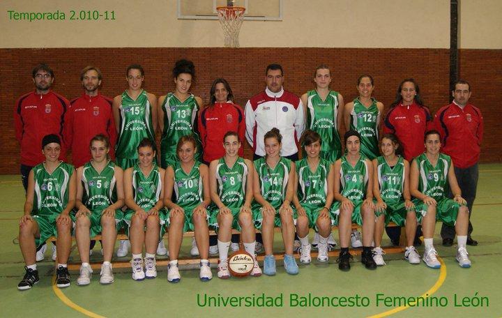 Plantilla de Universidad de León - BLF. (Foto: baloncestofemeninoleon.blogspot.com)