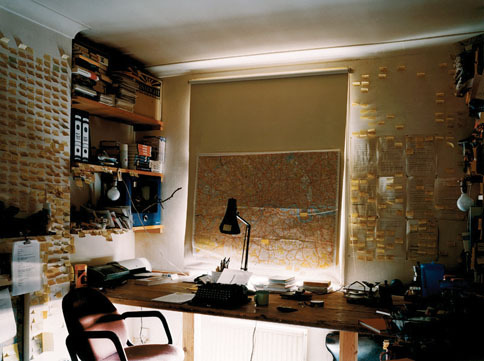 Will Self's office as photographed by Nigel Shafran (2006) © Nigel Shafran