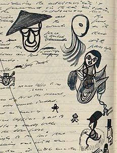 Doodles from the 'Watt' notebooks by Samuel Beckett. Copyright © 2009 by the Estate of Samuel Beckett.