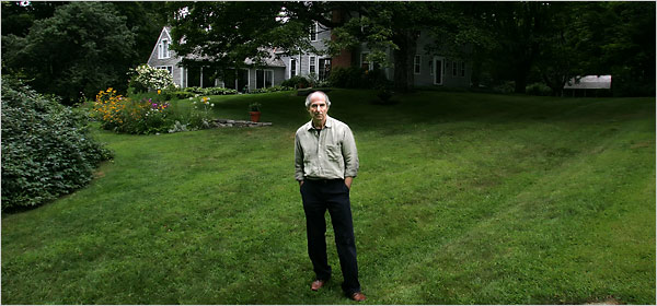 Philip Roth, shown last summer at his home in Connecticut, says Saul Bellow's death last year prompted him to start writing his new novel.