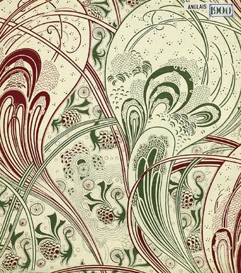 Impression à la planche sur coton,1900