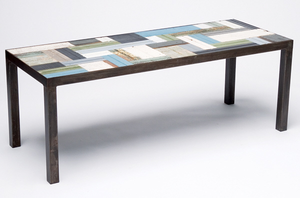 The Eco Modernist Reclaimed Patchwork Bench Coffee Table