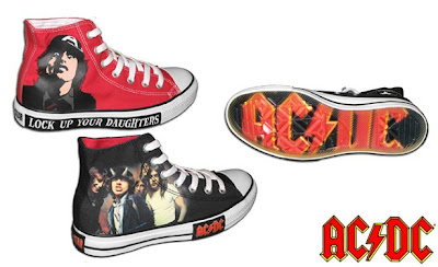 huge selection of d7e52 89b22 INSIDE THE ROCK POSTER FRAME BLOG  AC DC x Converse Chuck Taylor All Star  Pack