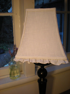 Reloved Rubbish White Linen Ruffle Lamp Shades