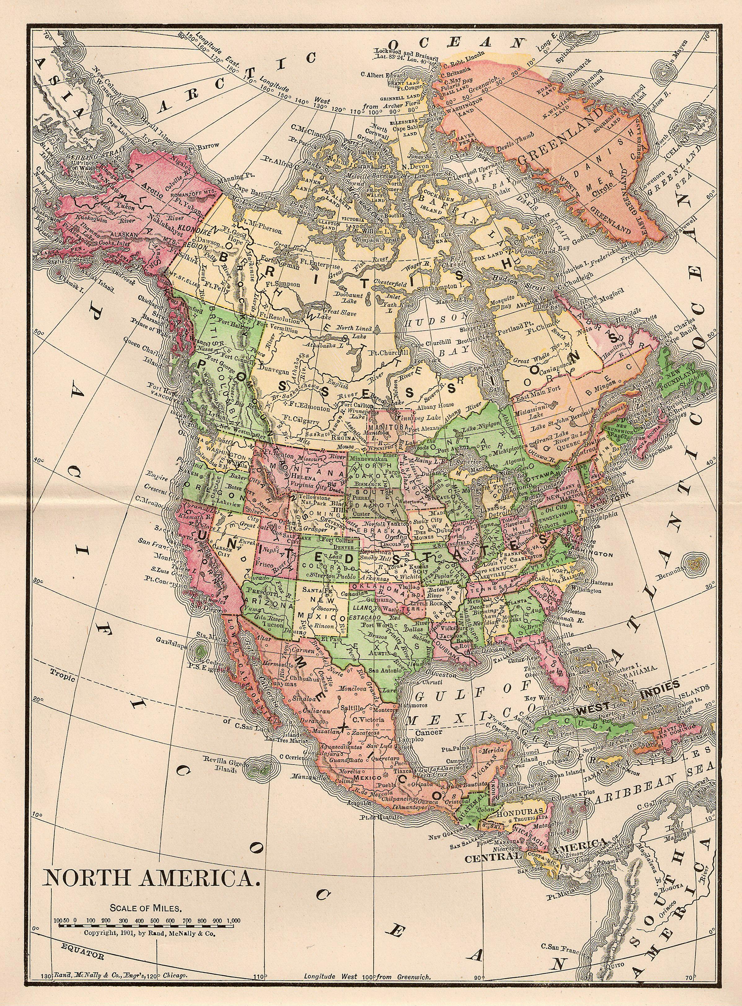 clipart map north america - photo #41