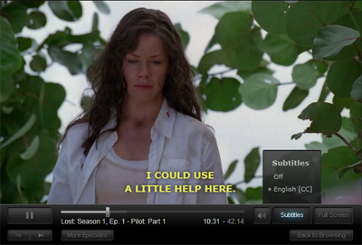 Netflix: Subtitles Now Available for PC/Mac Viewing