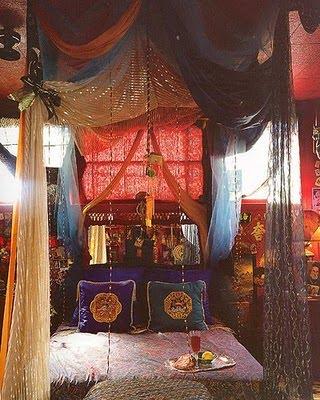 terrific bohemian bedroom inspiration | A Tray of Bliss: All Things Homespun...more Gypsy Bohemian ...
