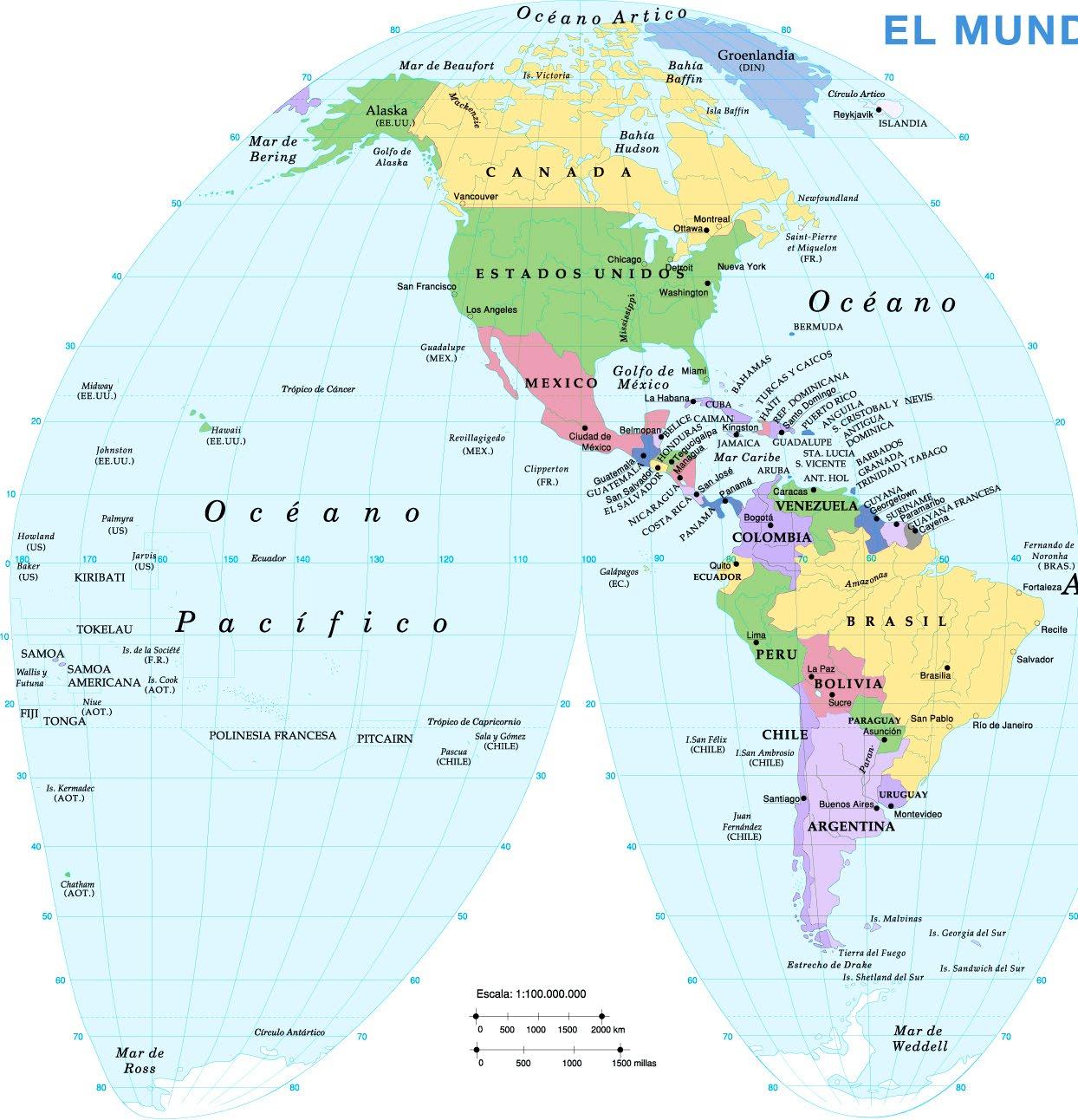Worksheet. profesor maximino rey mapa Amrica poltico III trimestre