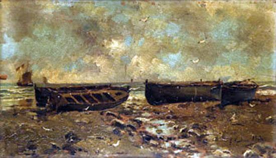 Barcas en la playa, Juan Martínez Abades, Pintor español, Paisajes de Juan  Martínez Abades, Pintor Martínez Abades, Pintores españoles, Pintores Asturianos, Martínez Abades