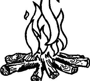 Gambar Mewarnai Api Unggun
