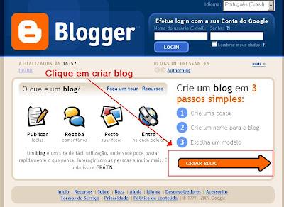 Como criar um blog na plataforma Blogger / Blogspot