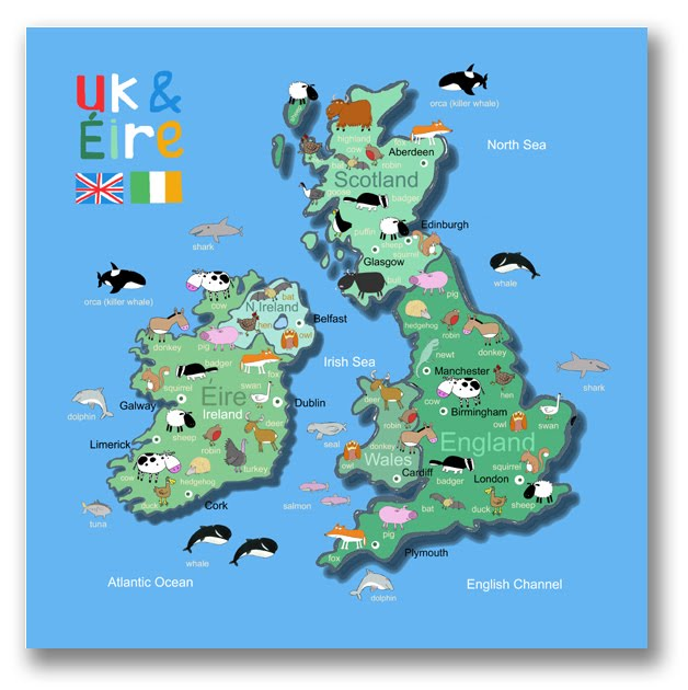 Map Of England For Kids.Its S A Jungle In Here Kids Map Of The Uk Ireland Finished