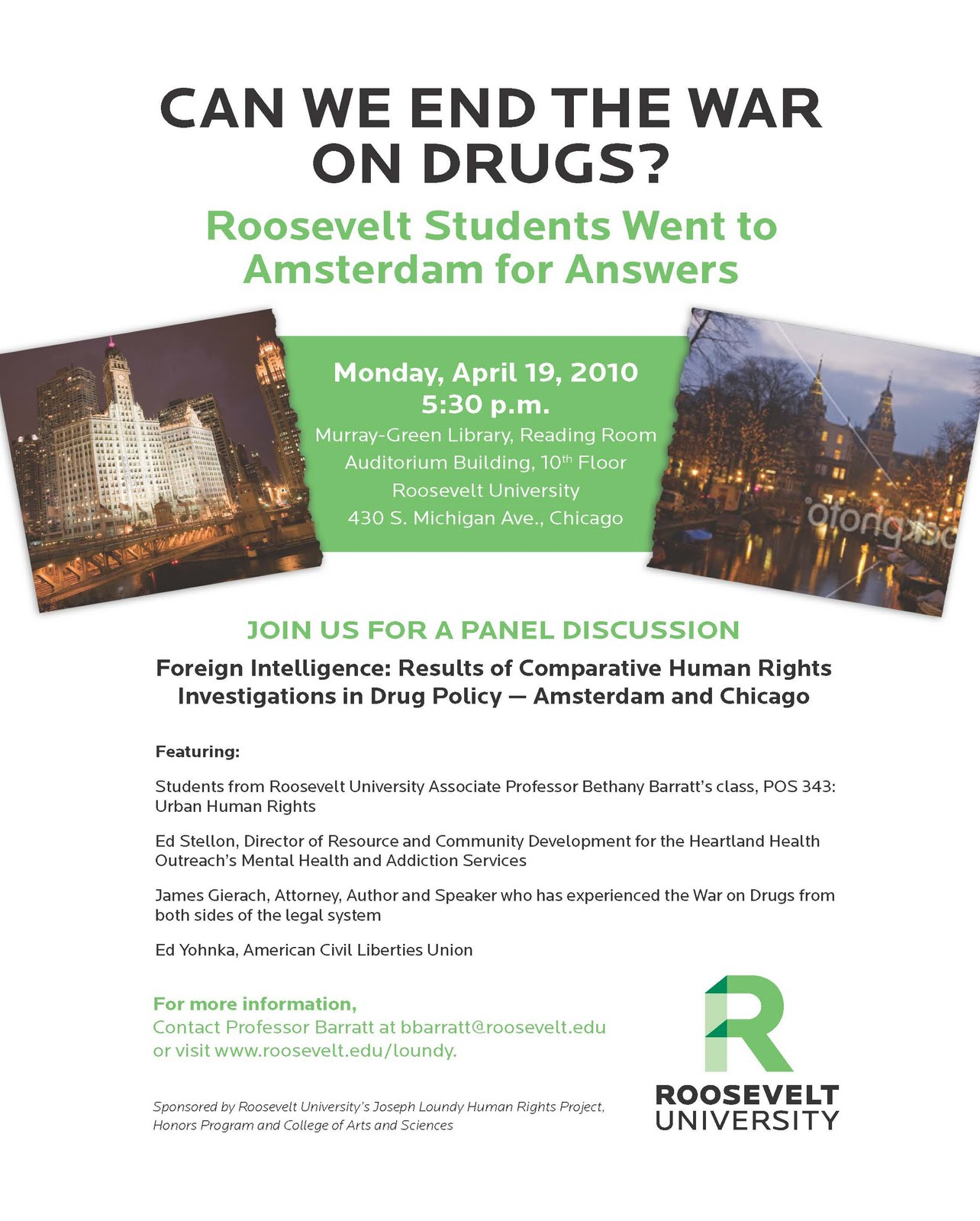 Roosevelt University Email >> Exploring Human Rights And Drug Policy In Amsterdam And
