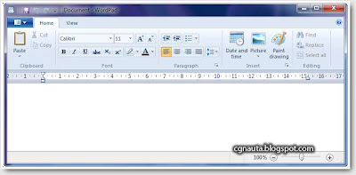 Windows 7 Wordpad