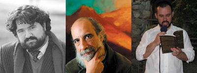 Javier Bello, Raúl Zurita y Cristián Gómez