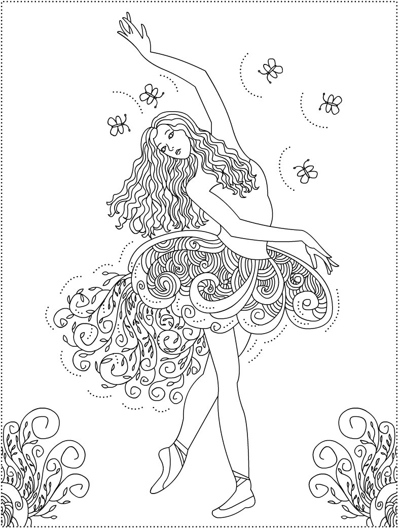 Amazing coloring pages for your kids for Ballet coloring pages printable